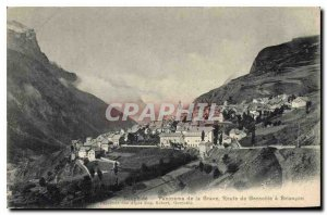 Old Postcard Dauphine Panorama of the Grave Road Grenoble Briancon