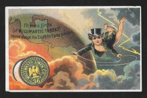 VICTORIAN TRADE CARD Willimantic Thread Fantasy