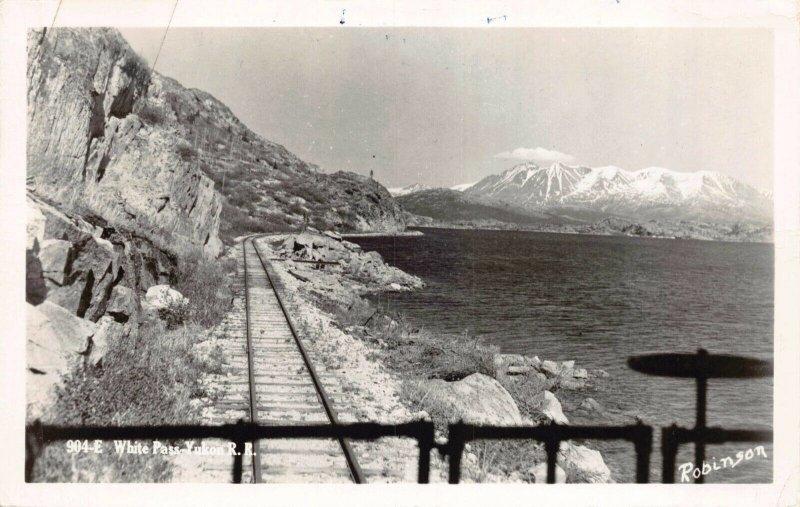 Real Photo Postcard White Pass Yukon Railroad, Alaska~130727