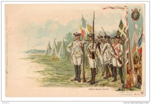 Patriotic Postcard Colonial Heroes #27 Lange Schwalbach French Relief Troops PMC