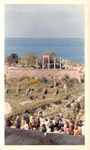 Byblos, Lebanon Postcard, Carte Postale View from Crusader Fort showing Ruins...