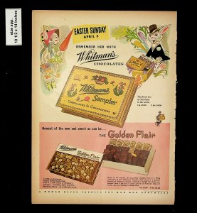 1953 Easter Sunday Whitman's Chocolate Vintage Print Ad 015749