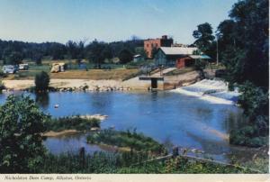 Nicholston Dam Camp Alliston ON Ontario Hwy #89 Vintage Postcard D18