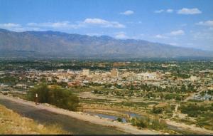 Tucson AZ Arizona Santa Catalina Mountains Vintage Postcard