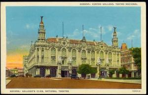 cuba, HAVANA HABANA, Gallego's Club, National Theatre (1940)