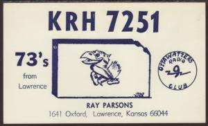 KRH-7251 Parsons Lawrence,KS QSL Card