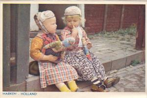 Netherlands Marken Young Children in Traditional Costume
