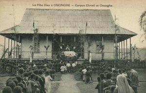 PC CPA PAPUA NEW GUINEA, CORPUS CHRISTI AT ONONGHE, Vintage Postcard (b19787)