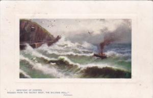 Tucks Ship In A Storm 1909 Rough Seas Series No 9729