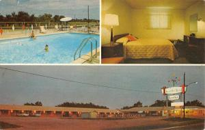 Atoka Oklahoma Thunderbird Lodge Multiview Vintage Postcard K58566