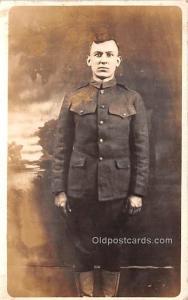 Military Man Real Photo Unused