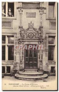 Postcard Thunder Former Bank Caisse d & # 39Epargne Old Hotel d & # 39Uzes Ma...