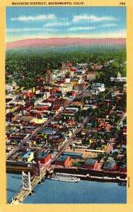 California Sacramento Aerial View Business District