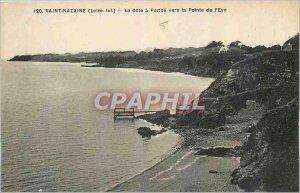 Old Postcard Saint Nazaire Loire Inf La Cote Portce to the Pointe de l'Eve