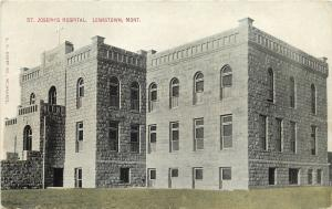 Lewistown MT St Joseph's Hospital is Made of Stone~Looks Like A Castle 1909
