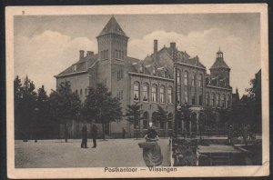 B & W PC Post Office Vissingen Netherlands used to Canada