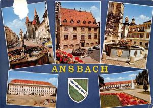Ansbach multiviews Rathaus Town hall Vintage Cars Auto Brunnen Fountain