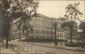 Haverhill MA High School c1910 Real Photo Postcard