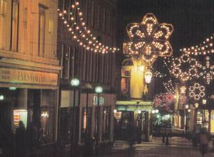 Dixons Electrical Store at Night in Bath Avon Roundhouse Pub Postcard