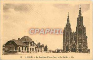 Old Postcard The Thorn Notre Dame Basilica and the City