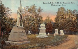LP03 Chattanooga  Tennessee Postcard Kelly Field Chickamauga