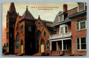 CHAMBERSBURG PA FIRST UB CHURCH ANTIQUE POSTCARD