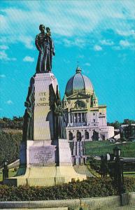 Canada Quebec Montreal The Statue Of Saint Joseph and Saint Joseph Oratory