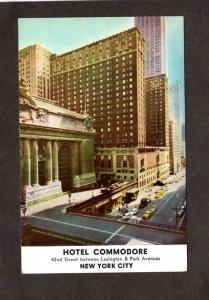 NY Hotel Commodore New York City Postcard Grand Central Terminal