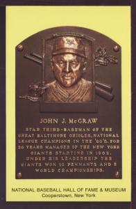 John J McGraw Baseball Hall Fame Post Card 3201