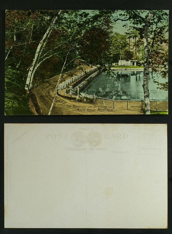 The Reservoir & Driveway Mount Royal Montreal c 1910