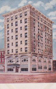 Hotel Rickman, Fire Proof, KALAMAZOO, Michigan, PU-1908