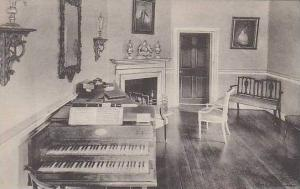 Virginia Mount Vernon Home Of George Washington Miss Custis Music Room Albertype