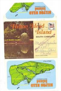 12-View Souvenir Folder,Hilton Head Island,SC,40-60s