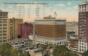 COLUMBUS, Ohio, 1917; View from State Capitol Dome