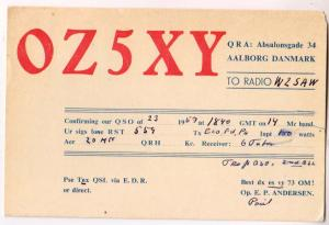 OZ5XY, Danmark, 1957
