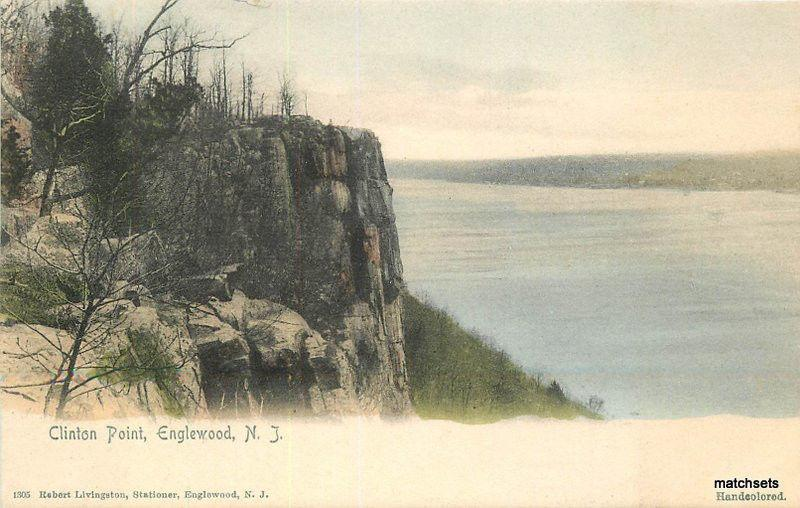C-1905 ENGLEWOOD NEW JERSEY Clinton Point Hand Colored Livingston postcard 1596