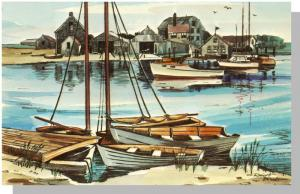 Hyannis, Mass/MA Postcard, Lewis Bay/Cape Cod, Robert Brooks