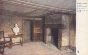 STRATFORD-ON-AVON , England , 00-10s ; Room Shakespear was born ; TUCK 774