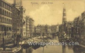 Hamburg Germany, Deutschland Postcard Fleet b Grimm  Fleet b Grimm