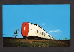QB Canadian National Train TORONTO MONTREAL Postcard