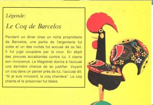 Legende: Le Coq de Barcelos, unused Postcard