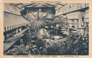 Florida Saint Petersburg Good Food In A Tropical Setting Garden Cafeteria 1949