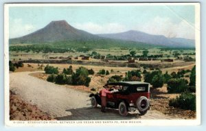 CHAPELLE STATION, NM Fred Harvey STARVATION PEAK from ROAD Old Car 1929 Postcard
