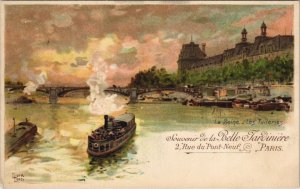 CPA PARIS 1e - La Seine- Les Tuileries (53819)