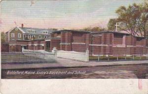 Maine Biddeford Andres Basement And School