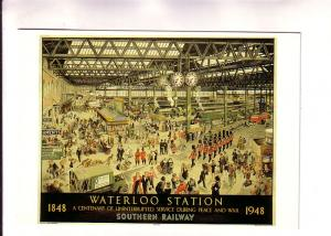 Painting of Waterloo Railway Station, London, England, 1848-1948, Mayfair Car...