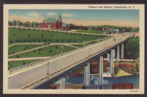 Viaduct,Armory,Jamestown,NY Postcard