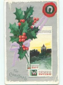 Divided-Back CHRISTMAS SCENE Great Postcard W9735