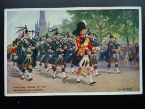 Scotland PIPES & DRUMS SEAFORTH HIGHLANDER Regimental Pipe Band c1960's Postcard