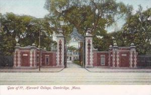 Massachusetts Cambridge Gate Of 77 Harvard College
